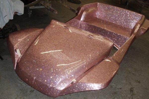 pink metal flake